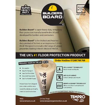 Builders Board® Breathable Floor Protector