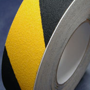 Antislip Tape Self Adhesive Safety Hazard Warning Black & Yellow 75mm x 18m