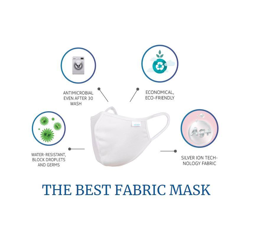 Nano Silver Reusable Washable Face Mask (ADULT) V1