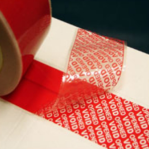 TAMPERSAFE Tamper Proof / Evident Security Parcel Tape Red 25mm x 50m PLAIN