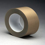 3M® 5453 PTFE Teflon Glass Cloth Tape 25mm x 36 Yards x 8.3 Mil (call for price)