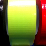 "Cloth Tape Adhesive Hi Vis Fluorescent Yellow 1"" x 45m"