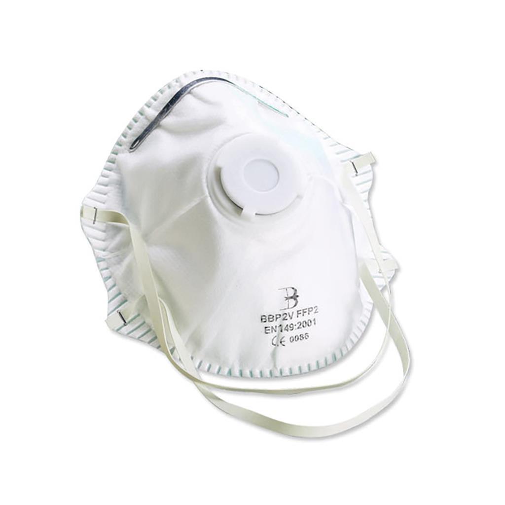 N65 N95 FFP2 P2 Valved Dust/Mist Respirator (5 Masks)