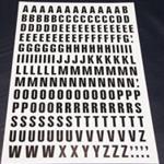 Sheet of Magnetic Letters 23mm Black on White