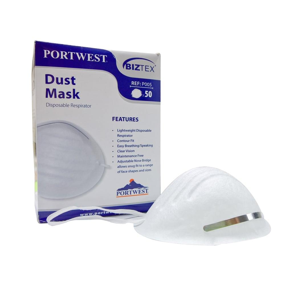 General Purpose Disposable Respirator Dust Face Masks (50 Masks)