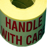 "Self Adhesive Label ""HANDLE WITH CARE"""