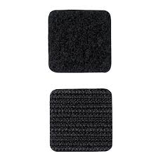 Rip 'n' Grip Hook and Loop Fastener Squares HOOK Black High Tack Rubber Adhesive 22MM (1000)