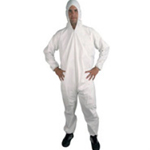 Polypropylene Disposable Coveralls White Large