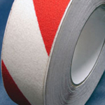 Antislip Tape Self Adhesive Safety Hazard Warning Red & White 75mm x 18m