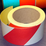 Reflective Tape Self Adhesive Red & White 25mm x 10m