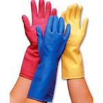 Rubber Marigold Type Gloves Blue Medium (Pack of 12)