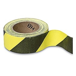Social Distancing Tape CLOTH Adhesive Hazard Black & Yellow 25mm x 33m