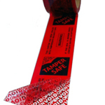 TAMPERSAFE Tamper Proof / Evident Security Parcel Tape Red 50mm x 50m PRINTED