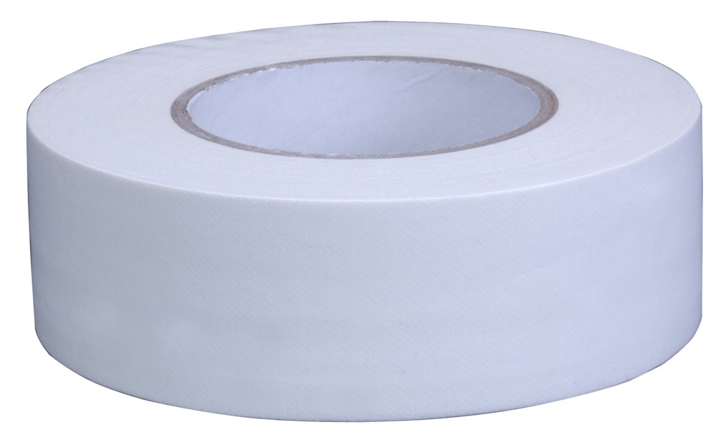 "Pro Grade Gaffer Tape Matt Finish Easy Peel Peelable Low Tack 2"" x 50 White"